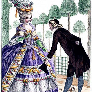 Frankreich. Großes offenes Gesellschaftskleid 1778.