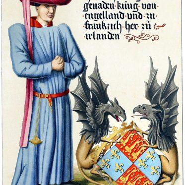 Heinrich VI. König von England aus dem Haus Lancaster.