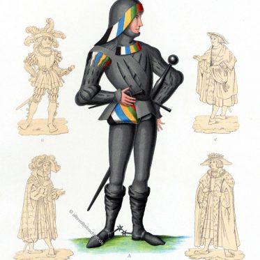 Fränkische Hofkleidung der Renaissance.