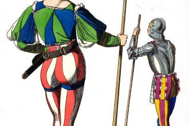 Soldaten, Italien, Renaissance, Mittelalter, Kostüme, Bekleidung, Tracht, Mi-Parti,