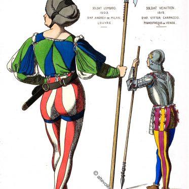 Italienische Soldaten des 16. Jahrhunderts.