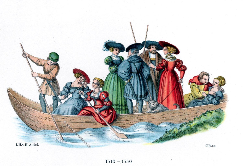Jagdgesellschaft, Trachten, Mode, Renaissance, Deutschland