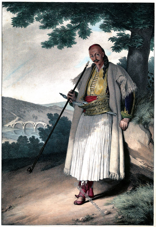 Grieche, Fustanella, Trachten, Griechenland, Traditionell, Dupré, Louis
