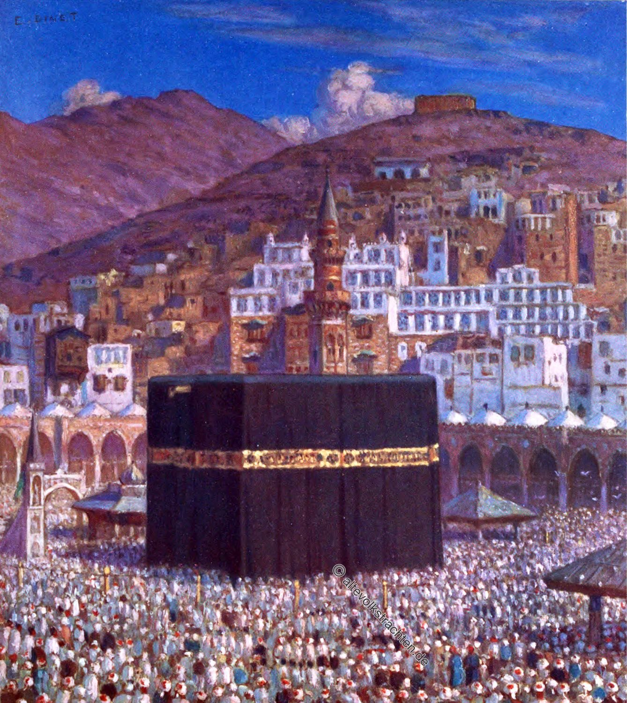 Kaaba, Ka'bah, Mekka, Sacred Temple, Haddsch , حج, Praying, Etienne Dinet