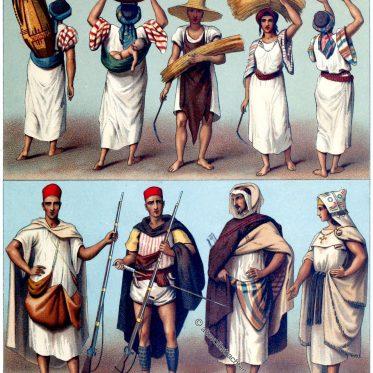 Afrika Maghreb. Algerien und Tunesien. Trachten der Kabylen.