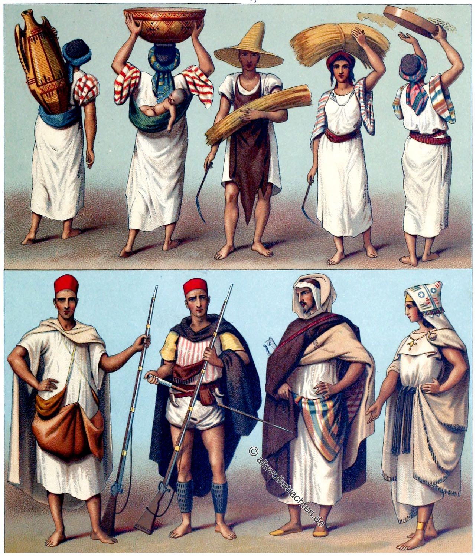 Berber, kabylen, Algerien, Tunesien, Marokko, Trachten, Kostüme