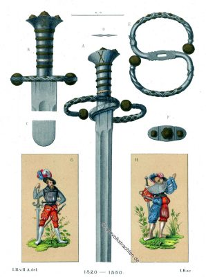Katzbalger, Landsknecht, Hefner-Alteneck, Schwert, Renaissance, Militär, Soldat, Waffen