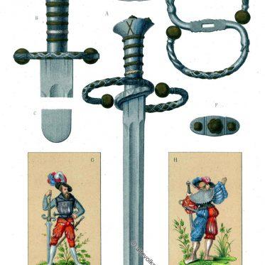 Der Katzbalger. Kurzschwert eines deutschen Landsknechtes im 16. Jh.