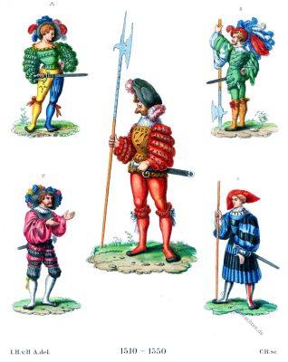 Landsknechte, Katzbalger , Kostüm, Renaissance