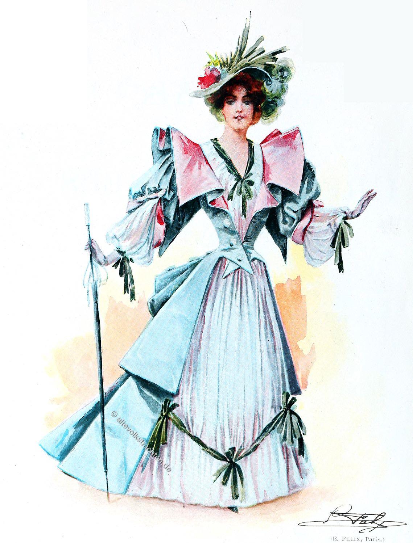 Belle Époque, Modellkleid, Maison Félix, Haute Couture