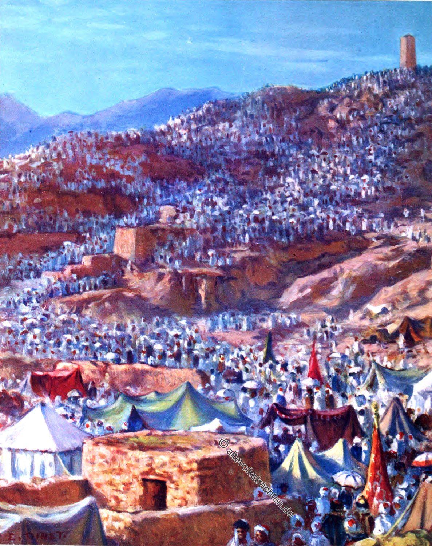 Etienne Dinet, Makka, Pilgrims, Mount Arafat, Dhul-Hijja