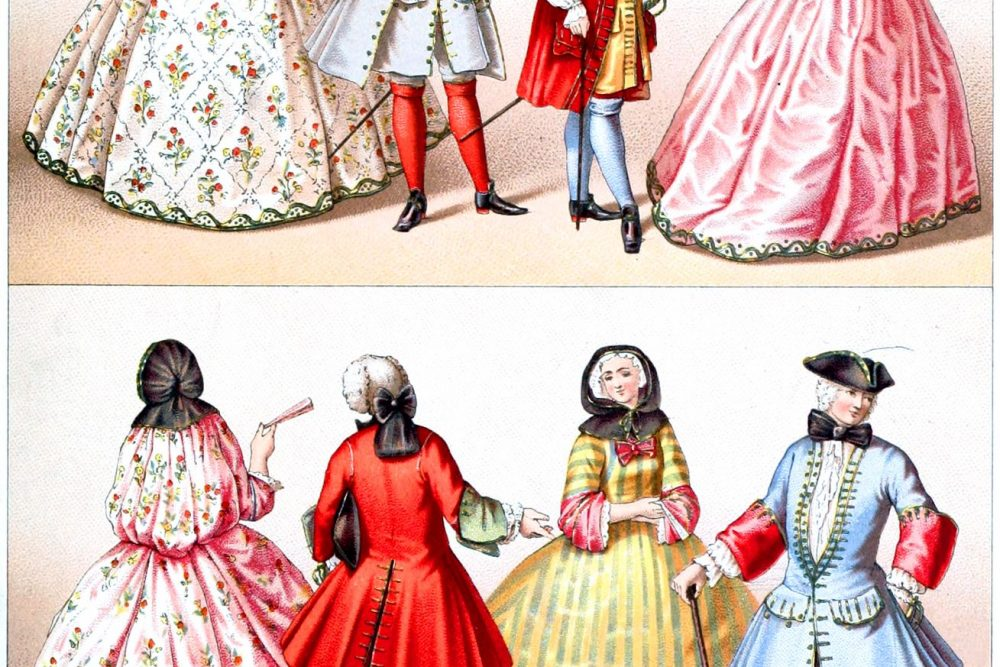 Kostümgeschichte, Bagnolette, Mantille, Frankreich, Barock, Rokoko