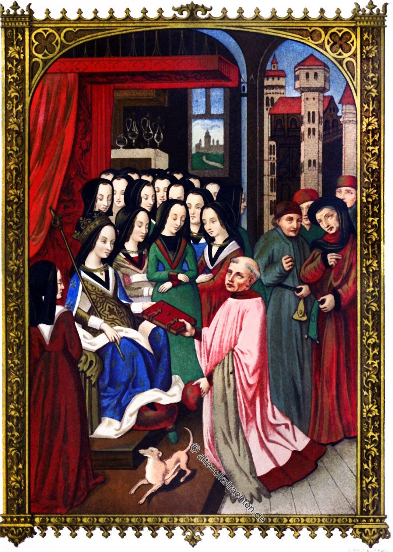 Maria von Anjou, Mittelalter, Königin, Frankreich, Kostüm, Gotik