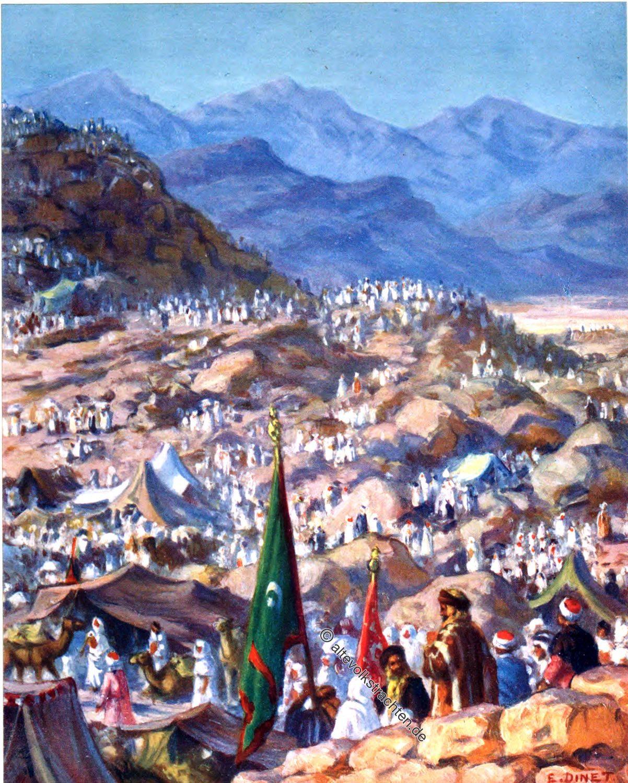 Mekka, Pilgrims, Mount Arafat, Dhul-Hijja, Etienne Dinet