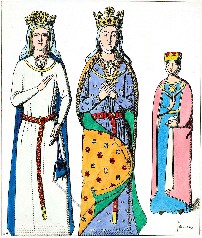 Berengere von Navarra, Isabella von Angoulême, Gräfin von Gleichen, Mittelalter, Kostümgeschichte