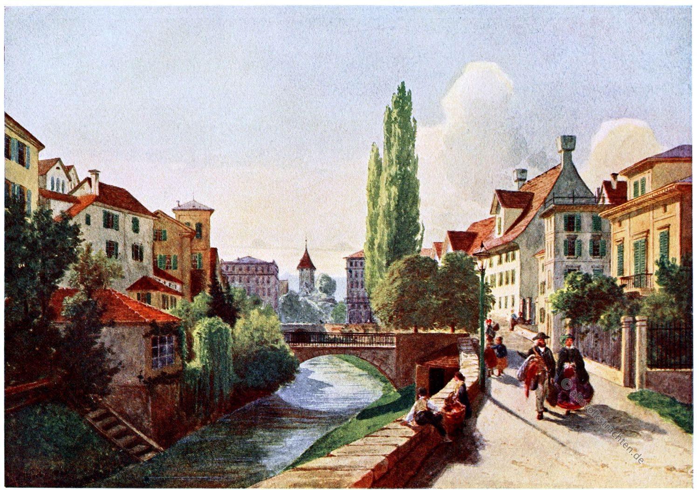 Zürich, Fröschengraben, Carl Toechi, Historische Stadtansicht