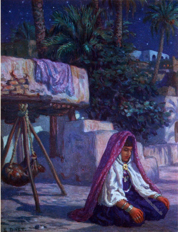 Moslem, Woman, dwelling, Saudi Arabia, Etienne Dinet