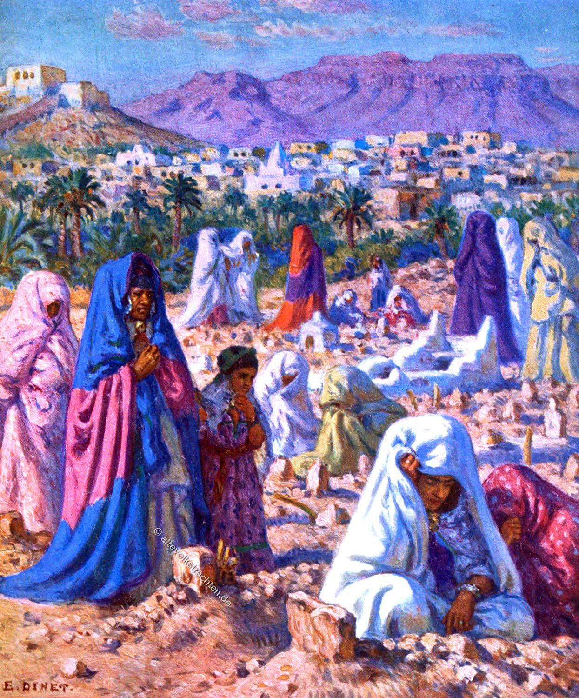 Etienne Dinet, Cemetery, Moslem, Praying, Saudi Arabia, Mekka