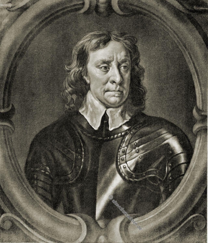 Oliver Cromwell, Lord-Protektor, England, Porträt, Barock