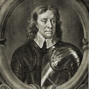 Oliver Cromwell, englischer politischer und militärischer Führer.