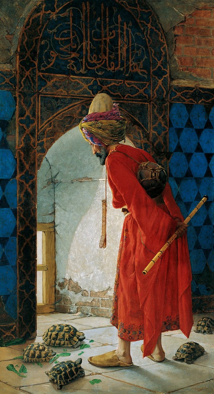 Osman Hamdi Bey, Schildkrötenerzieher, Derwisch, Maler, Türkei, Kunst, Kostüm, Osmanisches Reich