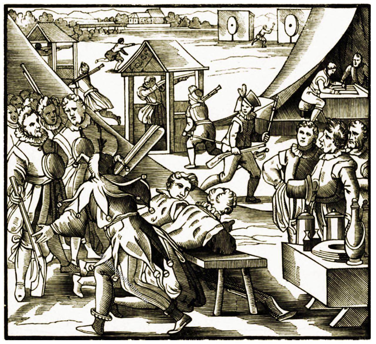 Pritschenmeister, Zürich, Schießstand, Mittelalter