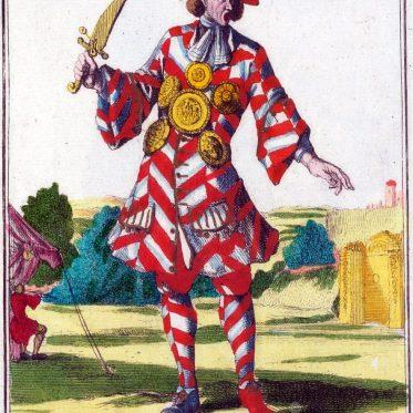 Ein Pritschenmeister aus Nürnberg zur Zeit des Barock.