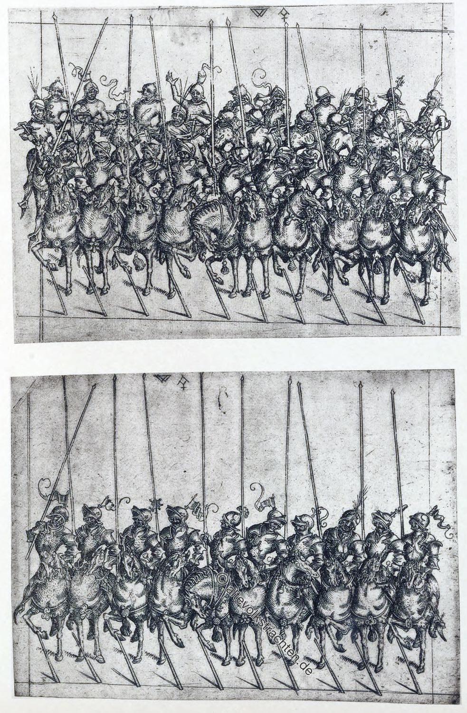 Reiterei, Ritter, Mittelalter, Karl der Kühne, Burgund, Militär