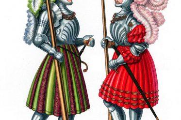 Nicolaus Glockendon, Hefner-Alteneck, Renaissance, Illustration, Rittertrachten, Waffenrock, Waffenröcke,