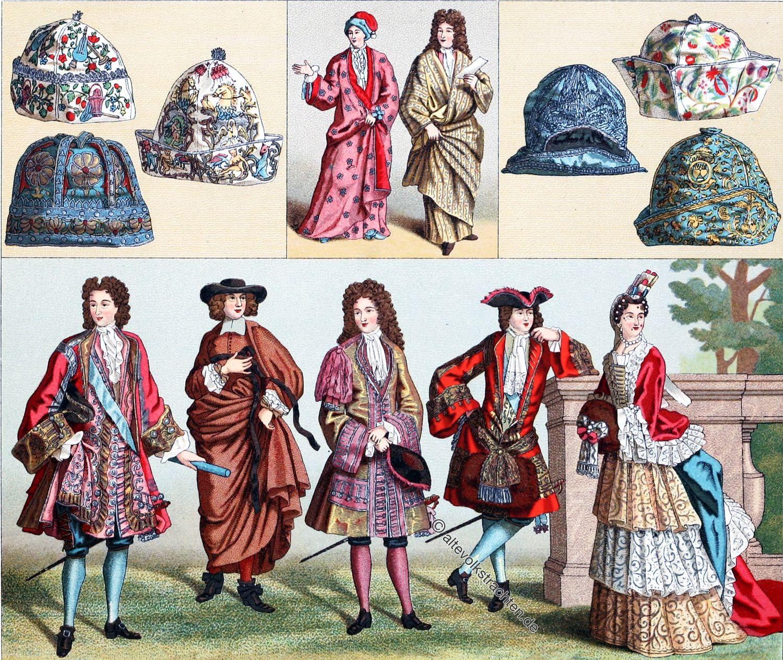 Schlafröcke, Schlafmützen, Barock, Modegeschichte, Ludwig XIV,