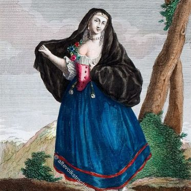 Frau von Palermo. Donna Palermitana. Femme de Palerme.