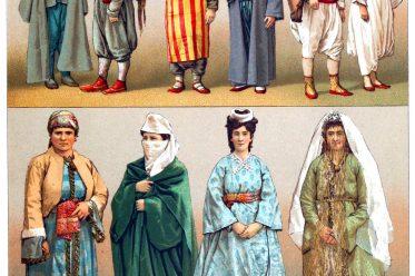 Trachten, Kostüme, Türkei, Bektaschi-Derwisch, Hammal, Aïwas, Bürger, Sakka, Caikdji, Jüdin, Türkische Frauen, Verheiratete Armenierin