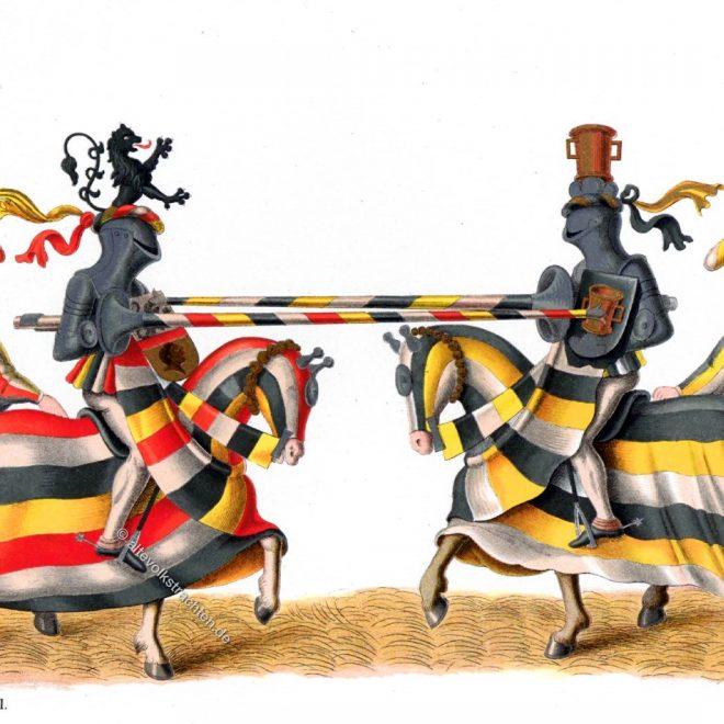 Hefner-Alteneck, Gestech, Turnier, Ritter, Renaissance