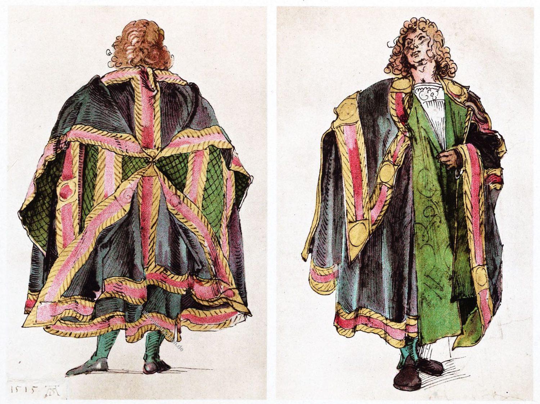 Hoftrachten, Albrecht Dürer, Renaissance, Kostüme,