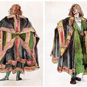 Entwürfe zu kaiserlichen Hoftrachten. Maximilan I. 1515.