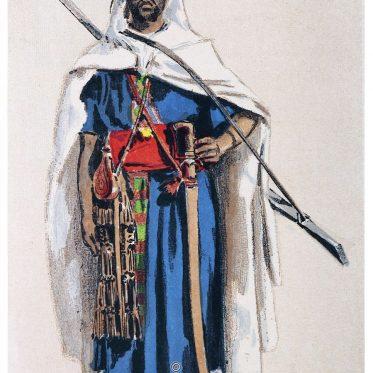 Ein Kabyle aus dem nordost-algerischen Volk der Berber um 1882.