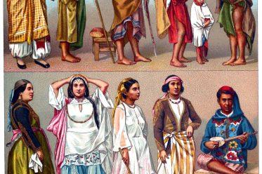 Volkstrachten, Bauchtänzerinnen, Algerien, Trachten, Mauren, Racinet