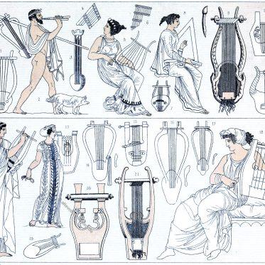 Lyren und Flöten. Musikinstrumente des antiken Griechenland.