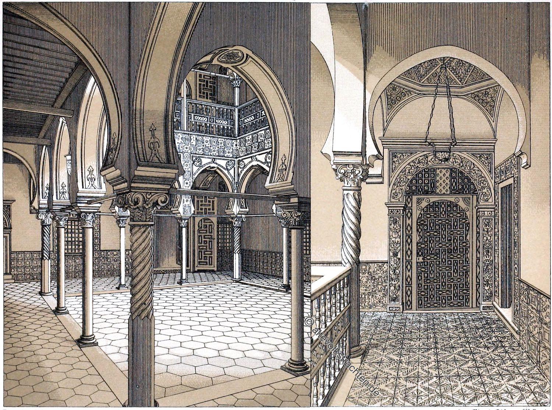 Architektur, Mauren, Nordafrika, Algerien, Innenhof