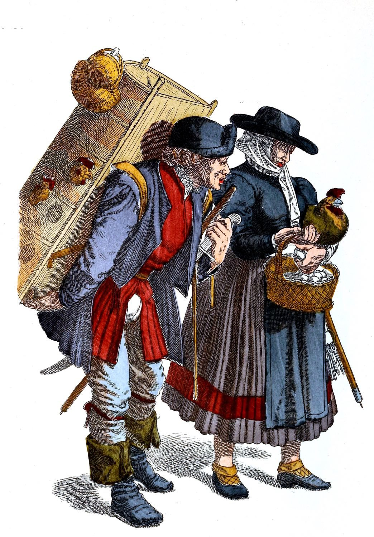 Trachten, Bauern, Köln, Mittelalter, Nordrhein-Westfalen, Bauersleute