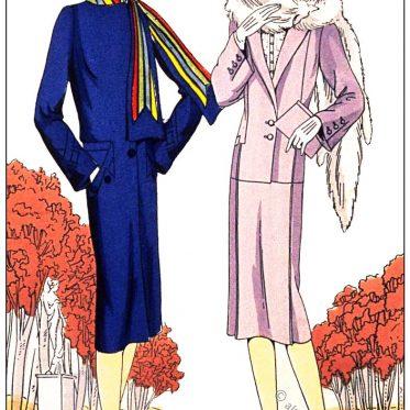 Herbstmode von Bernard & C.ie und Philippe & Gaston, 1929.