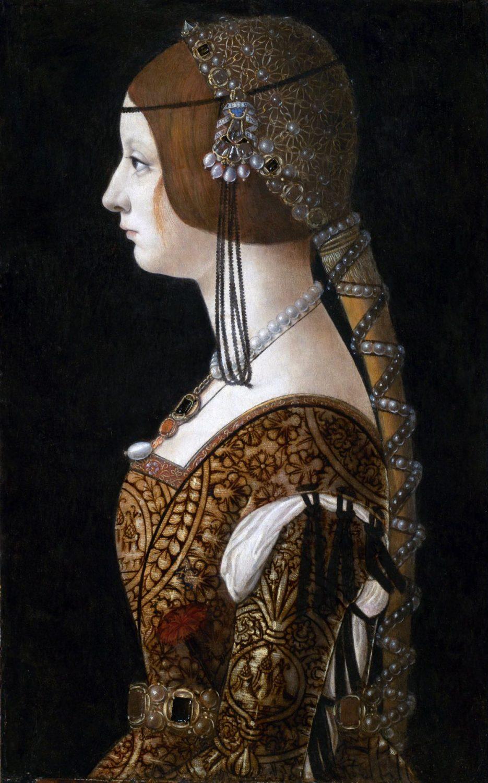Bianca Maria Sforza, Crespine, Mode-Italien, Renaissance