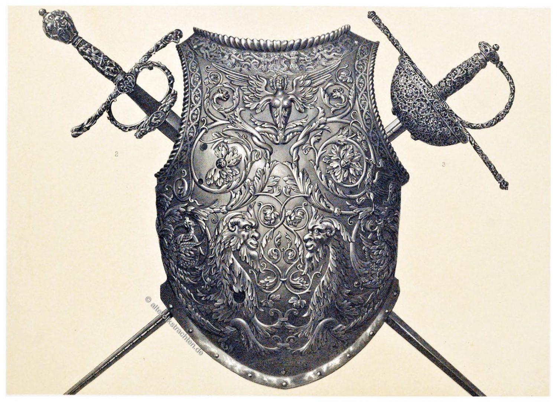 Brustpanzer, Moritz von Sachsen, Degen, Rapier, Renaissance, Waffen, Rüstung, Art treasures