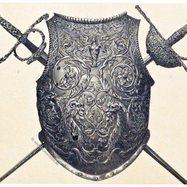 Brustpanzer von Moritz von Sachsen. Degen des 16. Jhs.