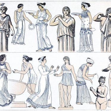 Der Chiton. Griechische Frauentrachten der Antike.
