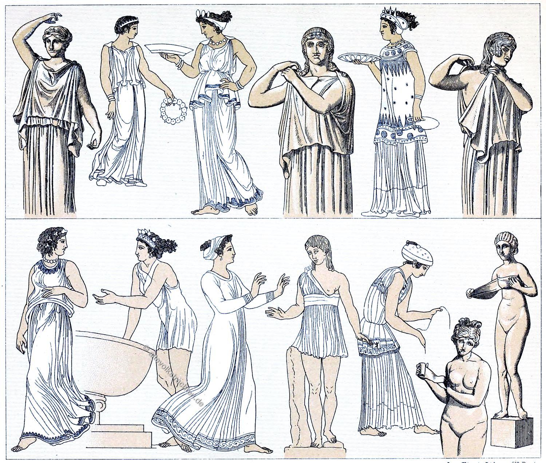 Der Chiton Griechische Frauentrachten Der Antike