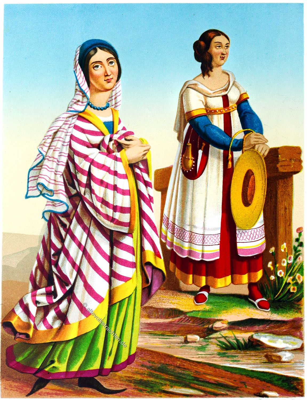 Schweizer, Deutsche, Frauentrachten, Bekleidung, Renaissance