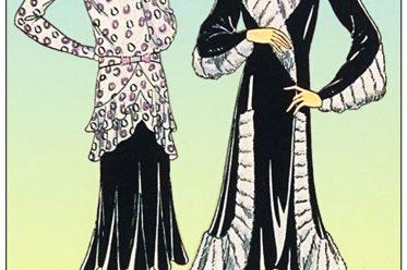 Germaine Lecomte, Modedesignerin, Haute Couture. art-deco, mode, kostüme