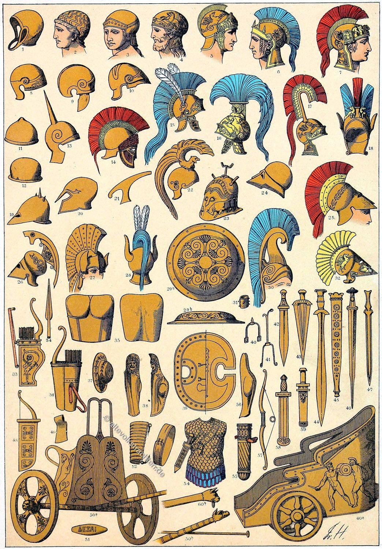 Griechenland, Friedrich Hottenroth, Soldaten, Waffen, Militär, Antike,