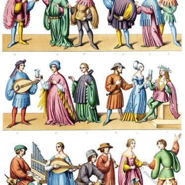Haustrachten des 14. und 15. Jahrhunderts. Wissenschaft und Künste.